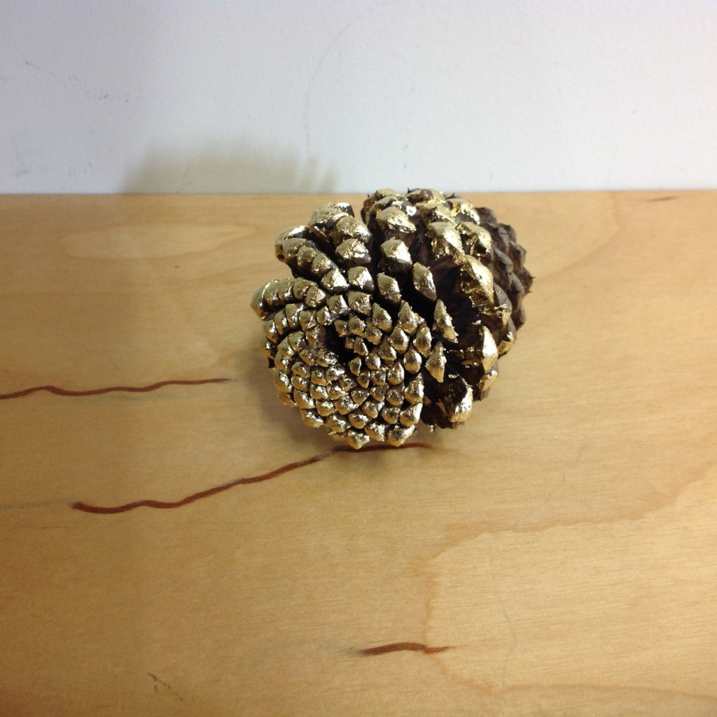 I gilded a pine cone today.