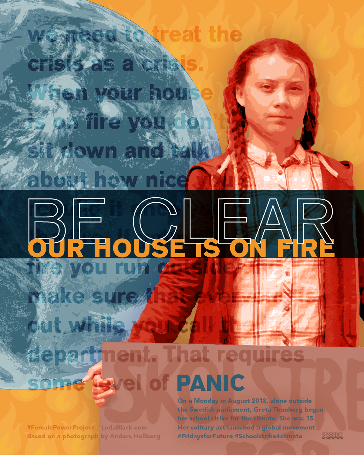 Greta Thunberg We Probably Don/'t Even Have a Future Anymore New POSTER