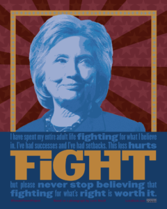 Hillary Rodham Clinton FIGHT poster